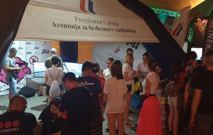 Uspešan nastup Agencije na EXIT festivalu | Agencija za bezbednost saobraćaja